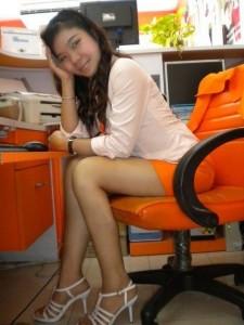 Bussaba a Thai Girl in office
